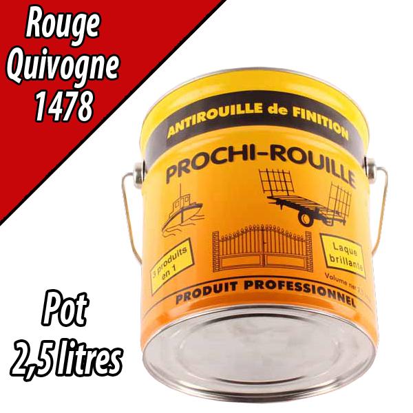 Peinture agricole PROCHI- ROUILLE brillante, rouge, 1478, QUIVOGNE, Pot 2,5 L