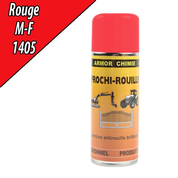 Peinture antirouille rouge 1405 pour machine massey fergusson a rosol 400ml - Bombe anti rouille ...