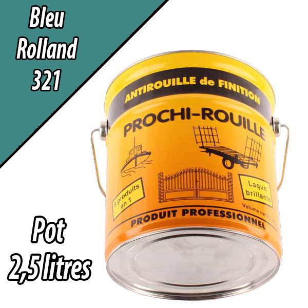 Peinture agricole PROCHI- ROUILLE brillante, bleu, 321, ROLLAND, Pot 2,5 L