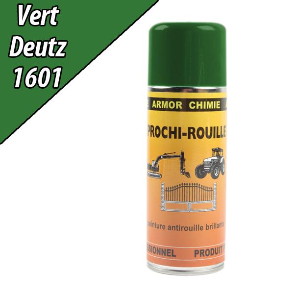 Peinture agricole PROCHI- ROUILLE brillante, vert, 1601, DEUTZ, Aérosol 400ml