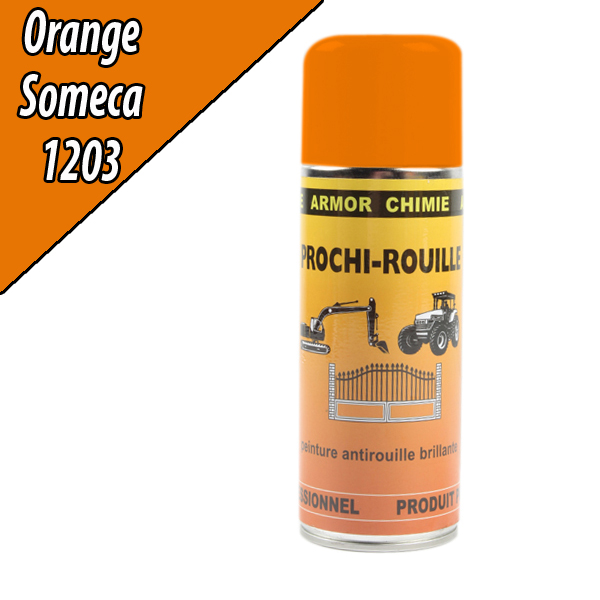 Peinture agricole PROCHI- ROUILLE brillante, orange, 1203, SOMECA, Aérosol 400ml