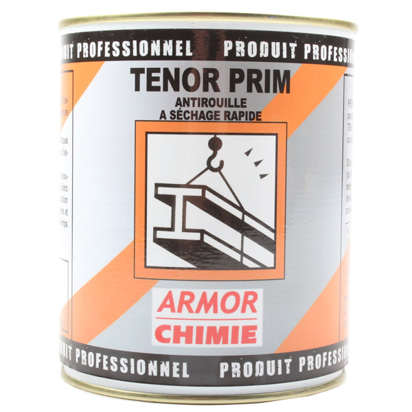 Primaire anti-corrosion mat à séchage rapide, Tenor gris pot 1 kg