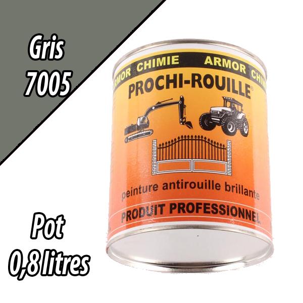 Peinture agricole PROCHI- ROUILLE brillante, gris, 7005, UNIVERSEL, Pot 0,8 L