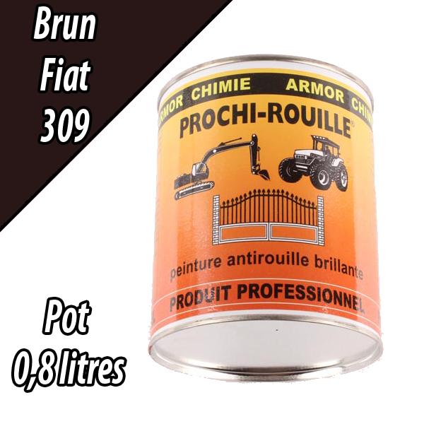 Peinture agricole PROCHI- ROUILLE brillante, brun, 309, FIAT, Pot 0,8 L