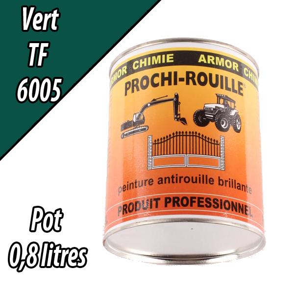 Peinture agricole PROCHI- ROUILLE brillante, vert, 6005, UNIVERSEL, Pot 0,8 L