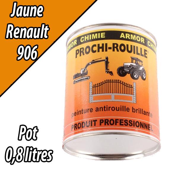 Peinture agricole PROCHI- ROUILLE brillante, jaune, 906, RENAULT, Pot 0,8 L
