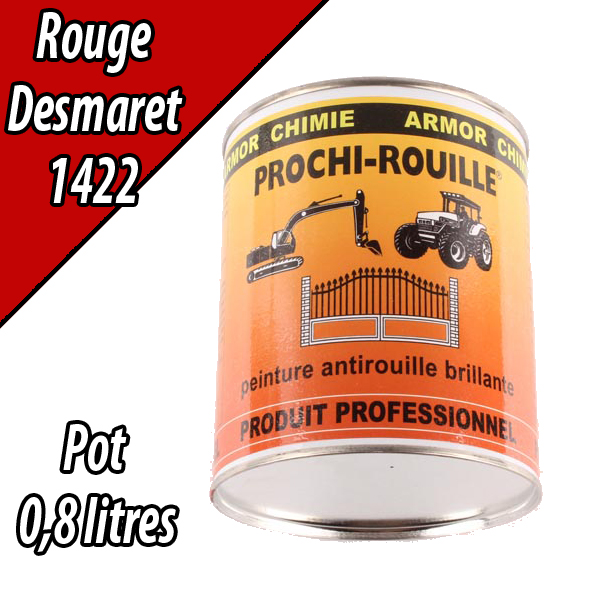 Peinture agricole PROCHI- ROUILLE brillante, rouge, 1422, DEMAREST, Pot 0,8 L