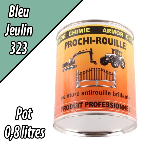 Peinture agricole PROCHI- ROUILLE brillante, bleu, 323, JEULIN, Pot 0,8 L