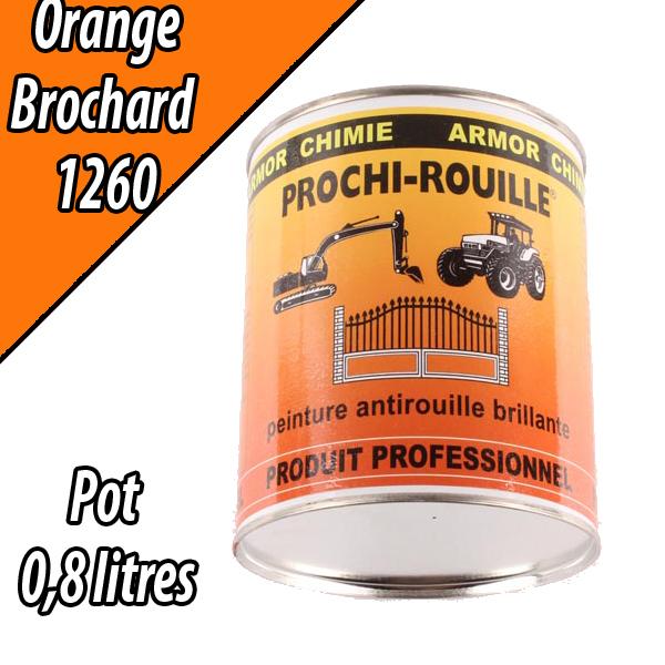 Peinture agricole PROCHI- ROUILLE brillante, orange, 1260, BROCHARD, Pot 0,8 L