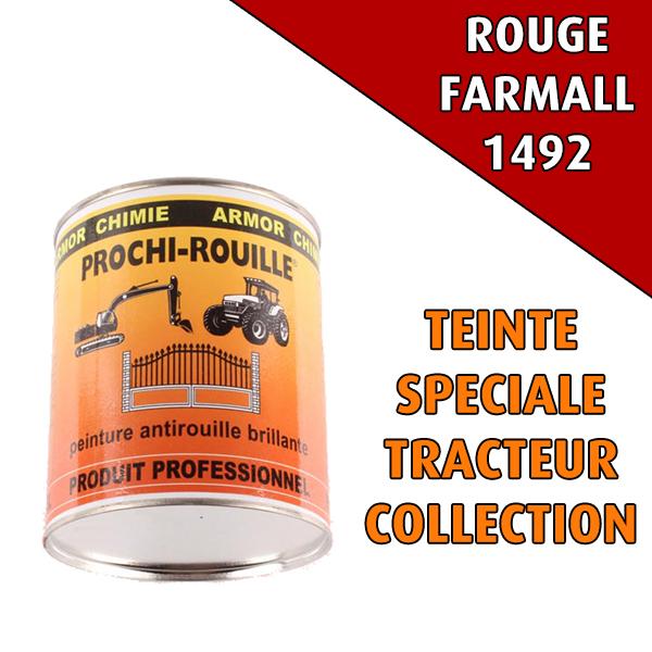 Peinture agricole collection PROCHI- ROUILLE brillante, rouge, 1492, FARMALL, Pot 0,8 L