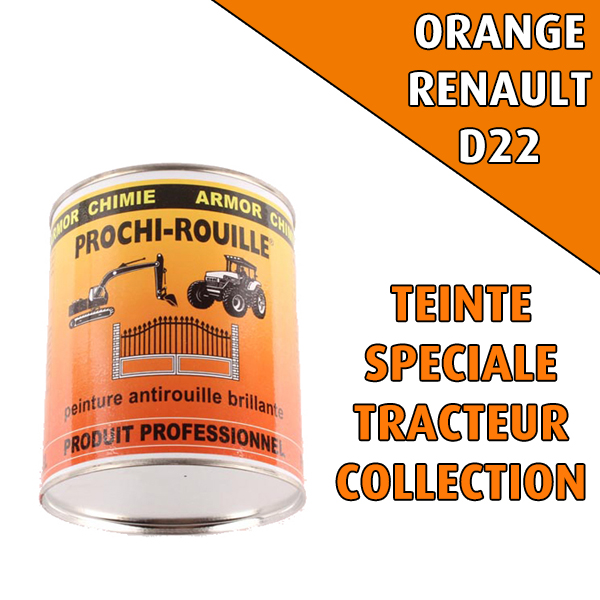 Peinture agricole collection PROCHI- ROUILLE, orange, RENAULT D22, Pot 0,8L