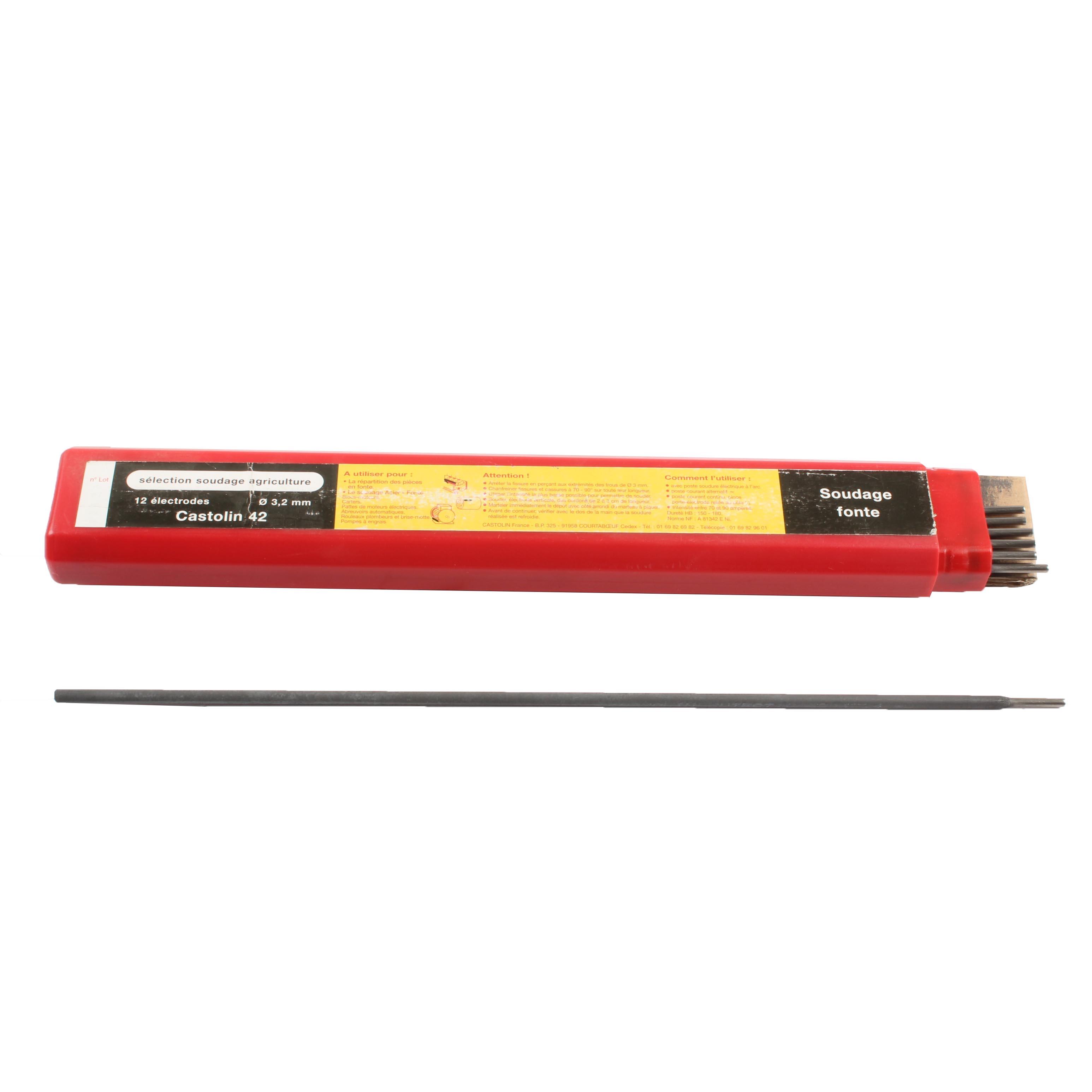 Etui de 12 électrodes 3,2mm, fonte, Castolin