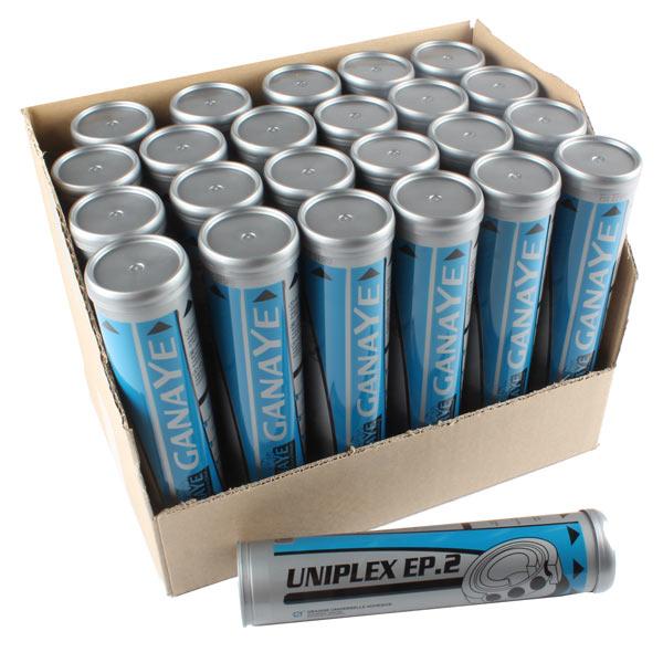 Graisse extrême-pression UNIPLEX, carton de 24 cartouches de graisse