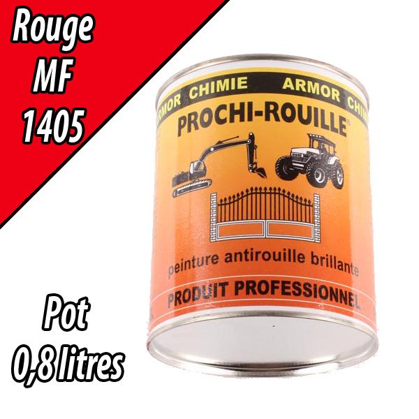 Peinture agricole PROCHI- ROUILLE brillante, rouge, 1405, MASSEY FERGUSSON, Pot 0,8 L