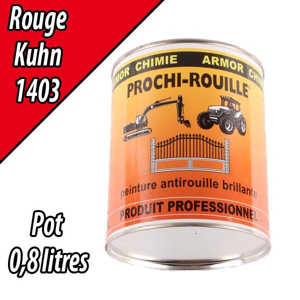 Peinture agricole PROCHI- ROUILLE brillante, rouge, 1403, KUHN, Pot 0,8 L