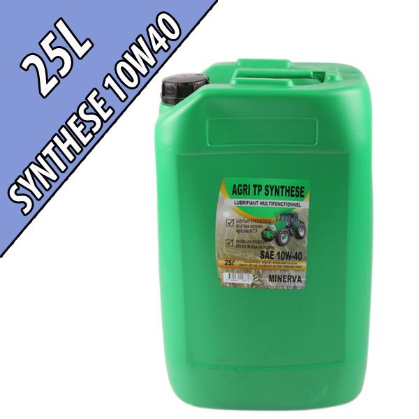 Lubrifiant synthétique multifonctionnel 10W-40 AGRI SYNTHESE, en bidon de 25L