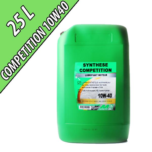 Lubrifiant synthétique pour moteurs automobiles 10W-40 COMPETITION, en fût de 25L
