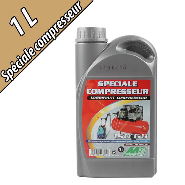 Lubrifiant pour compresseur SPECIAL COMPRESSEUR, grade ISO 68, en bidon de 1L