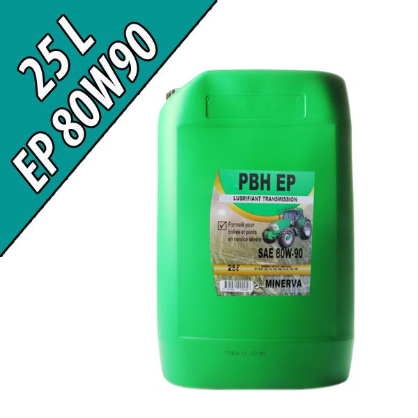 Lubrifiant minéral pour boîtes et ponts PBH EP 80W-90, en bidon de 25L