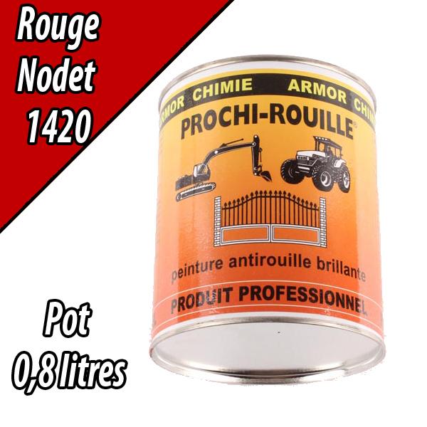 Peinture agricole PROCHI- ROUILLE brillante, rouge, 1420, NODET, Pot 0,8 L