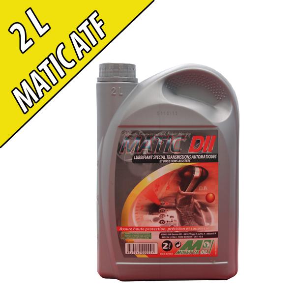 Fluide minéral pour transmissions automatiques MATIC II, en bidon de 2L