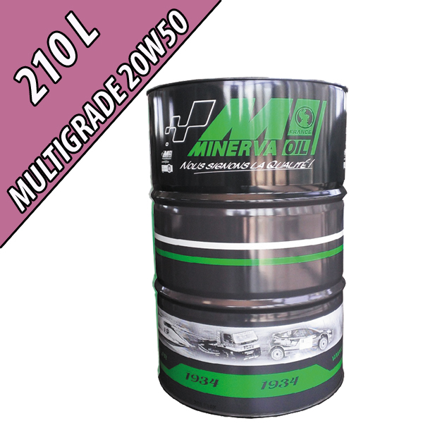 Lubrifiant moteur minéral MULTIGRADE 20W-50, en fût de 210L