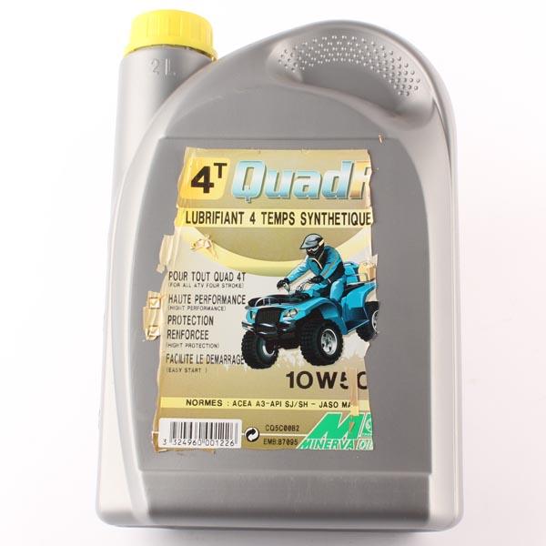 Lubrifiant moteur synthétique pour quad 4 temps 4T QUAD RS, en bidon de 2L