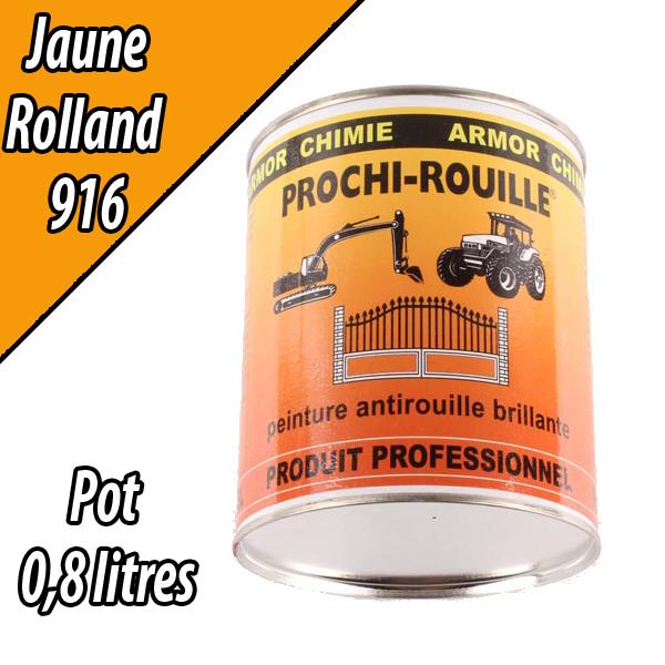 Peinture agricole PROCHI- ROUILLE brillante, jaune, 916, ROLLAND, Pot 0,8 L