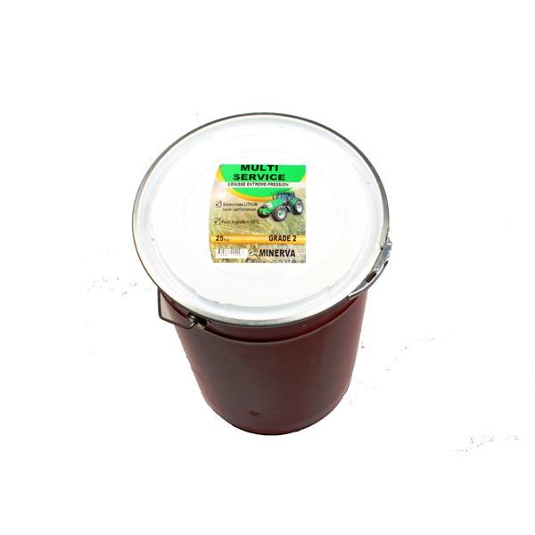 Graisse multifonctionnelle à savon de Lithium MULTISERVICE, seau de 25kg