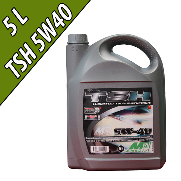 Lubrifiant 100% synthétique pour moteurs automobiles TSH 5W-40, en bidon de 5L