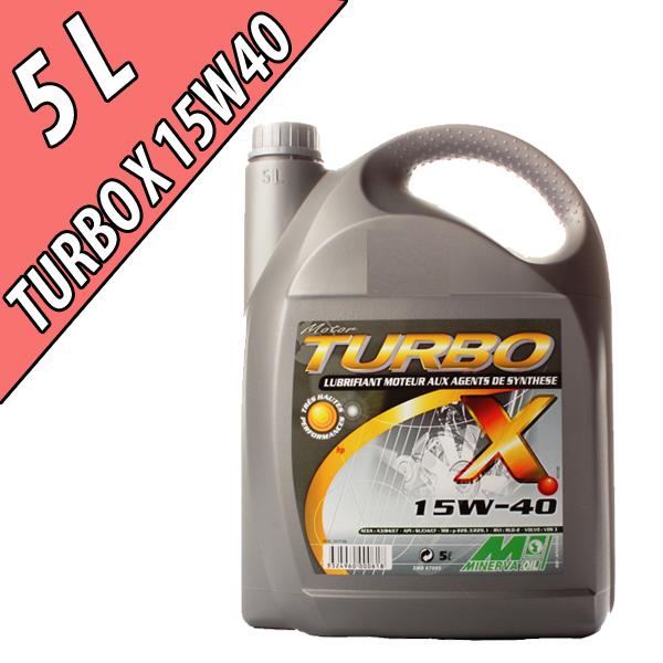 Lubrifiant minéral pour moteurs essence et diesel TURBO X, en bidon de 5L