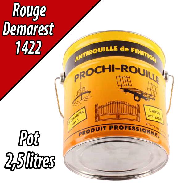 Peinture agricole PROCHI- ROUILLE brillante, rouge, 1422, DEMAREST, Pot 2,5 L