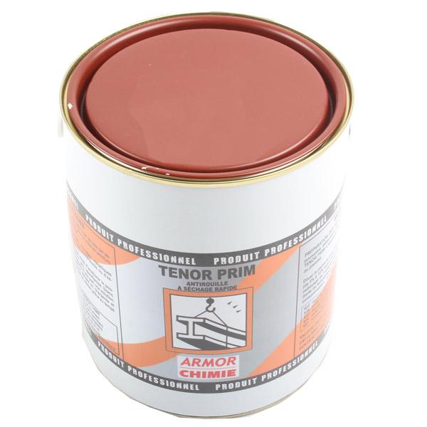 Primaire anti-corrosion mat à séchage rapide, Tenor Brun rouge pot 3 kg