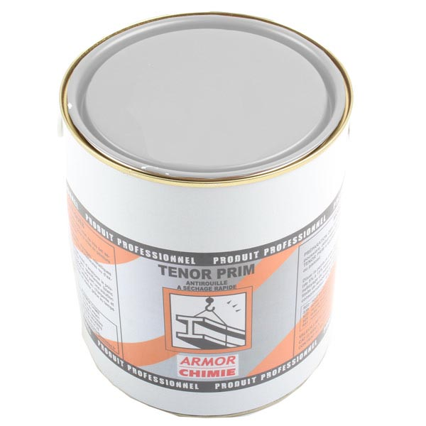 Primaire anti-corrosion mat à séchage rapide, Tenor gris pot 3 kg