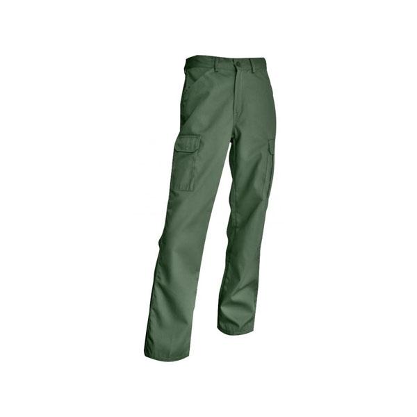 Pantalon de travail scie multipoches vert us. Taille 48