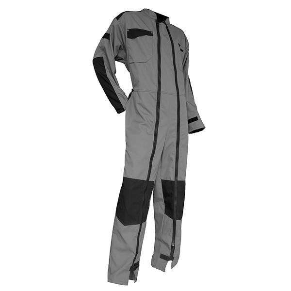 Combinaison de travail coton, gris/noir, taille 4