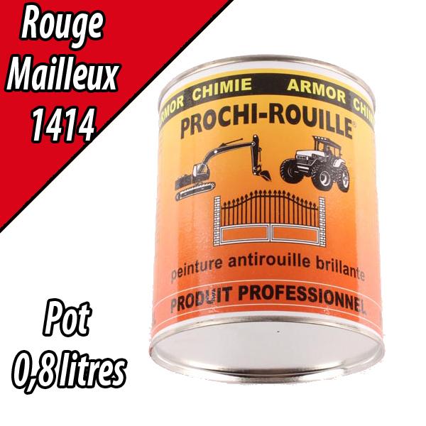 Peinture agricole PROCHI- ROUILLE brillante, rouge, 1414, MAILLEUX, Pot 0,8 L