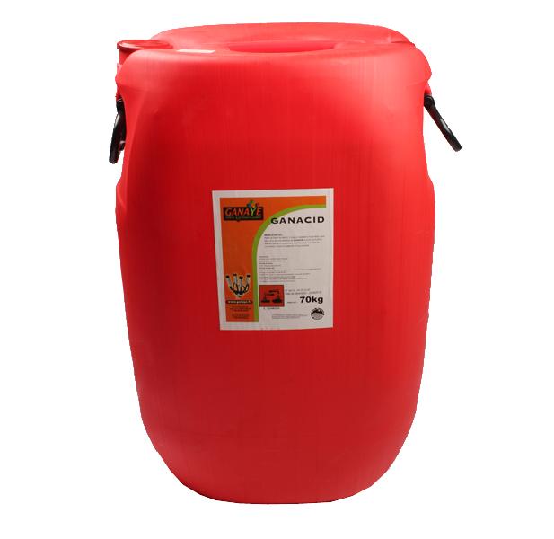 Bidon de nettoyage pour matériel de traite GANACID, 43201/70,PRODHYNET