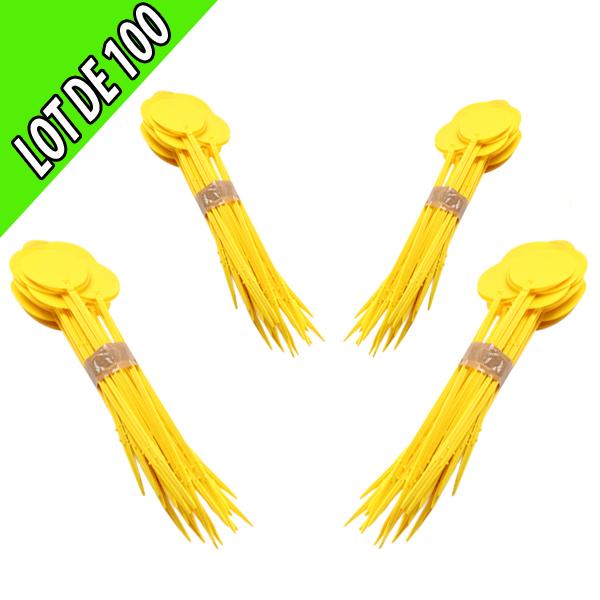 Jalon 75 cm jaune par lot de 100 unités