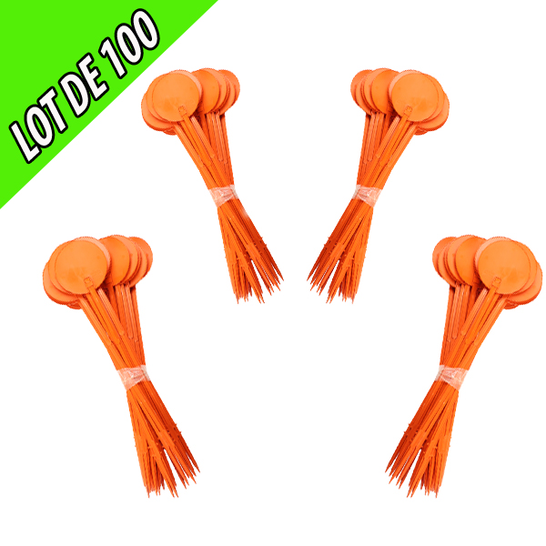 Jalon 75 cm orange par lot de 100 unités