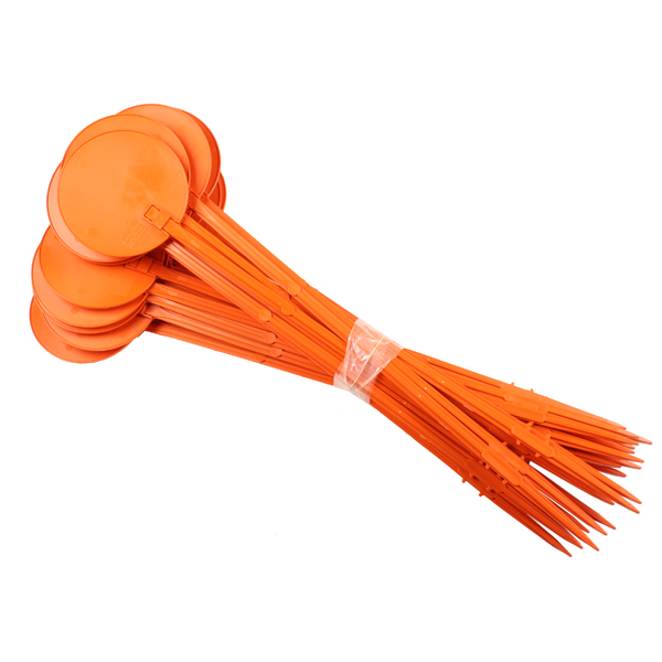 Jalon 75 cm orange par lot de 25 unités