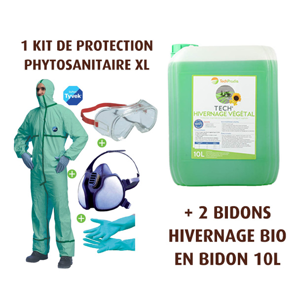 Pack pulvé protection BIO, 1 kit de protection phyto XL + 2 bidons d'hivernage BIO 10L