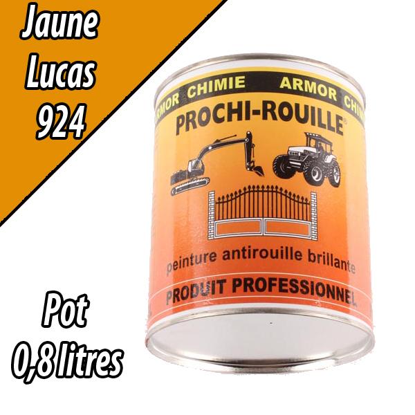 Peinture agricole PROCHI- ROUILLE brillante, jaune, 924, LUCAS, Pot 0,8 L