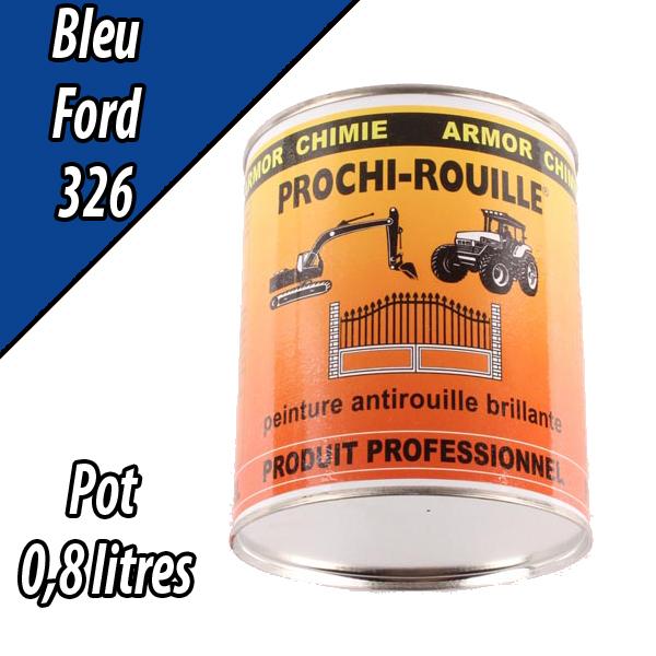 Peinture agricole PROCHI- ROUILLE brillante, bleu, 326, FORD, Pot 0,8 L
