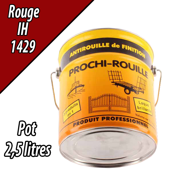 Peinture agricole PROCHI- ROUILLE brillante, rouge, 1429, CASE IH, Pot 2,5 L