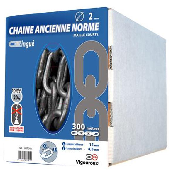 Chaine droite zinguée 2.5mm