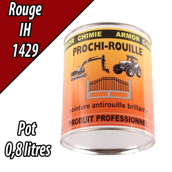 Peinture agricole PROCHI- ROUILLE brillante, rouge, 1429, CASE IH, Pot 0,8 L