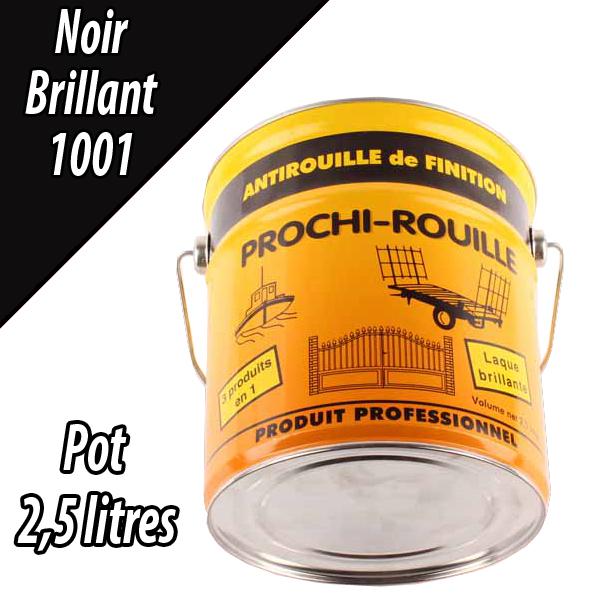 Peinture agricole PROCHI- ROUILLE brillante, noir, 1001, UNIVERSEL, Pot 2,5 L
