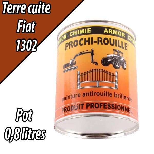Peinture agricole PROCHI- ROUILLE brillante, cuite, 1302, FIAT, Pot 0,8 L