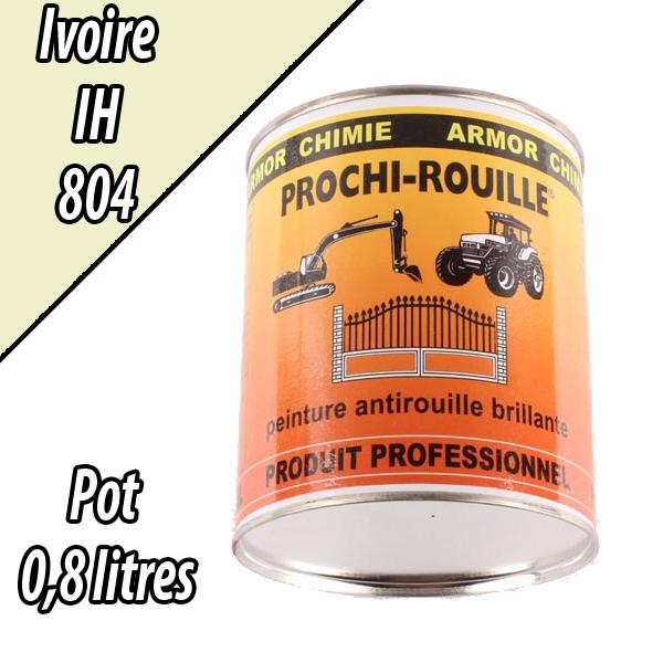 Peinture agricole PROCHI- ROUILLE brillante, ivoire, 804, CASE IH, Pot 0,8 L